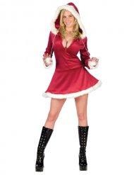 Sexy rood en wit kerstvrouw kostuum voor vrouwen