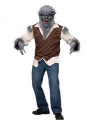 Bruin en beige weerwolf kostuum voor volwassenen