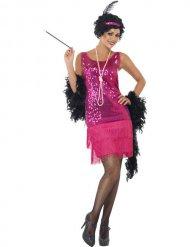 Roze Charleston kostuum voor vrouwen