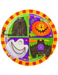 10 kartonnen Happy Halloween borden
