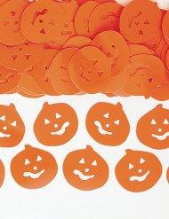 Oranje Halloween pompoen confetti