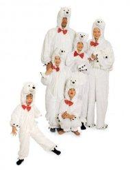 Pluche ijsbeer kostuum voor volwassenen