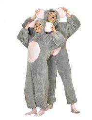 Pluche muis kostuum voor volwassenen