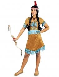 Turquoise indianen kostuum voor vrouwen
