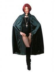 Satijnachtige zwarte cape voor volwassenen