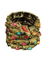 Slang armband met neppe edelstenen voor volwassenen