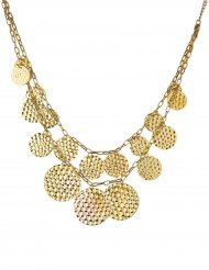 Goudkleurige oriëntaalse halsketting voor vrouwen