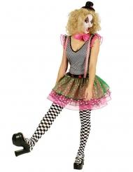Zwart wit harlekijn clown kostuum met tulle voor vrouwen