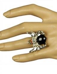 Zilverkleurige gothic heks ring voor vrouwen