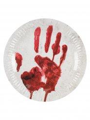 10 kartonnen bloederige hand borden