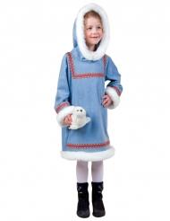 Wit en blauw eskimo kostuum voor meisjes