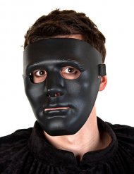 Zwart spook gezicht masker voor volwassenen