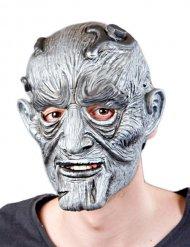 Grijs en zilverkleurig monster masker voor volwassenen