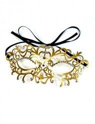 Goudkleurig Venetiaans oogmasker voor volwassenen