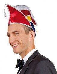 Veelkleurige carnaval hoed voor volwassenen