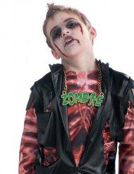 Groene zombie halsketting