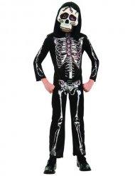 Zwart en wit skelet kostuum voor kinderen