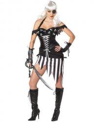Sexy gothic piraten kostuum voor vrouwen
