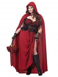 Gothic Roodkapje kostuum voor vrouwen - Grote Maten