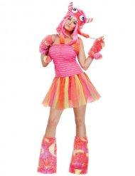 Oranje roze monster kostuum voor vrouwen