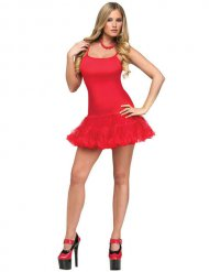 Rode dansjurk voor vrouwen
