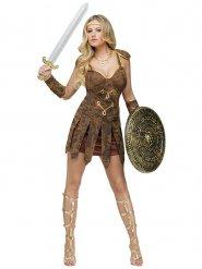 Sexy bruin gladiator kostuum voor vrouwen