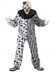 Zwart en wit monsterlijk clown kostuum voor volwassenen