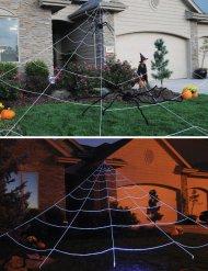 Enorme spinnenweb tuin decoratie