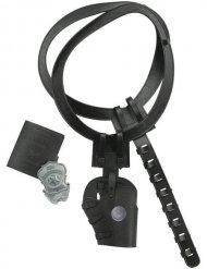 Zwarte politie accessoire set