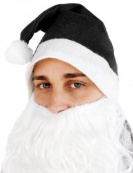 Zwarte kerstman muts voor volwassenen