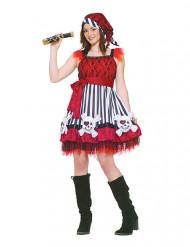 Rood klassiek piratenkostuum voor vrouwen