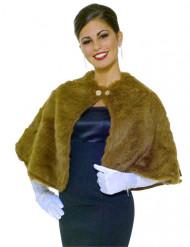 Bruine nepbont sjaal voor volwassenen