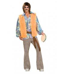 Beige en psychedelisch sixties hippie kostuum voor mannen
