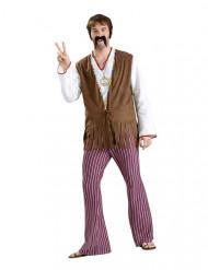 Jaren 60/70 hippie broek voor mannen
