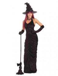 Zwart sexy heks kostuum voor vrouwen