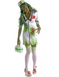 Radioactief zombie verpleegster kostuum voor vrouwen