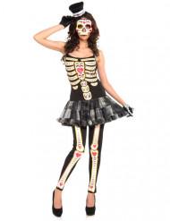Skelet Dia de los Muertos kostuum voor dames