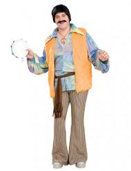 Klassieke hippie outfit voor mannen - Grote Maten
