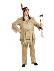 Beige indiaan kostuum voor mannen - Grote Maten