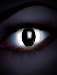 Witte reptielogen UV contactlenzen voor volwassenen