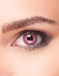 Roze electro contactlenzen voor volwassenen