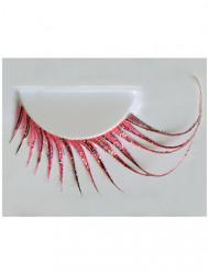 Lange roze valse wimpers