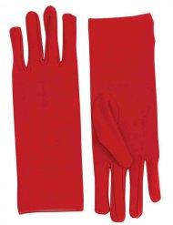 Korte rode dames handschoenen