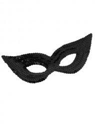 Zwart Venetiaans masker met pailletten