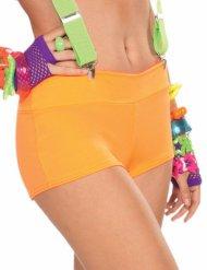 Oranje jaren 80/90 disco short voor volwassenen