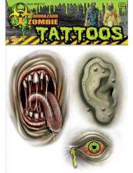 Groene zombie mutant tatoeages