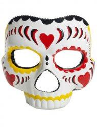 Veelkleurig en wit Dia de los Muertos masker