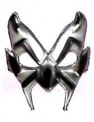 Venetiaanse duivel masker zilverkleurig