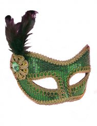 Groen Venetiaans masker voor volwassenen