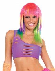 Paarse disco top met gaten voor dames